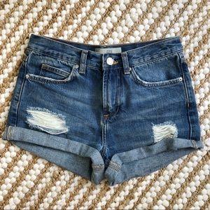 Topshop Rosa Denim Cutoff Jean Shorts